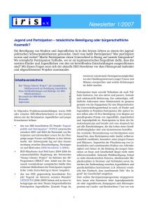 Cover Newsletter 1-2007