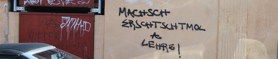 Graffito Tuebingen 2013